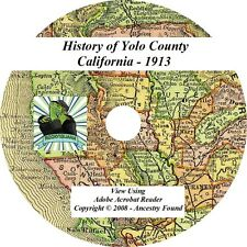 1913 History & Geneology of YOLO County California CA