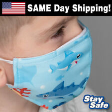 Child size Baby Shark Face Mask –Includes 2 Filters –30+ Custom Kids Designs
