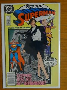 SUPERMAN #11 1987 JOHN BYRNE STORY, COVER & ART; RARE NEWSTAND MR. MXYZPTLK