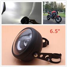 Modified Motorcycle Cafe Racer Bobber LED Headlight White Light Mount Bracket