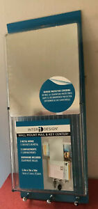 InterDesign Linus Wall Mount Mail & Key Center Vertical w/Mirror - Clear Plastic