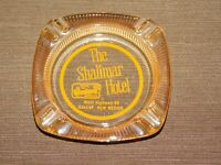 VINTAGE ROUTE 66 TOBACCO THE SHALIMAR HOTEL GALLUP NEW MEXICO GLASS ASHTRAY