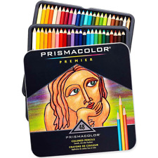 NEW 48x Prismacolor Premier Colour Coloured Pencils Tin Soft Core Professional A