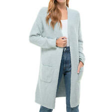 WOMEN'S OPEN FRONT PLUSH CARDIGAN BY THREAD & SUPPLY~ VARIOUS COLORS & SIZES NEW
