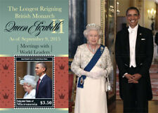 Micronesia- Q. Elizabeth ll Longest Reigning Monarch Stamp - Souvenir Sheet MNH