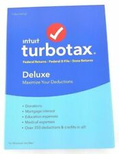 Intuit TurboTax Deluxe 2018 Federal Returns Federal E-File State Returns