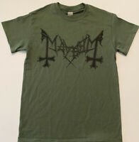 MAYHEM Logo T shirt BLACK METAL death Darkthrone Beherit Lords Of Chaos Watain