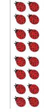 2 Sheets Hambly Glitter Mini Ladybug Stickers