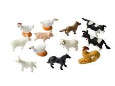 12 x Animales De Granja Figuras mascotas miniblings