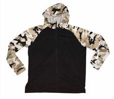 Nike Dri Fit Black Desert Camo Full Zip Up Hoodie Sweatshirt Mens Sz XL