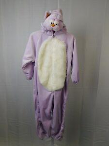 "Dress Um's Super Soft Cat Costume Jumpsuit Purple Size 3-5 Medium 44"" Tall #R119"