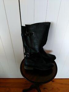 Autograph high black boots  Size 8 elasticized panel