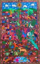"""15 1/2 X 23"""" Mexican Folk Art Amate Bark Painting Aztec"""