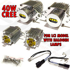 *BMW Angel eye CREE 40W E90 Lci Xenon White Halo Rings Upgrade E91 Halogen Lamps