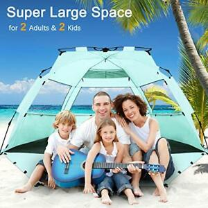 WhiteFang Deluxe XL Pop Up Beach Tent Sun Shade Shelter for 3-4 Person