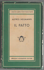 A. NEUMANN IL PATTO - MONDADORI 1953 MEDUSA-I GRANDI NARRATORI D'OGNI PAESE