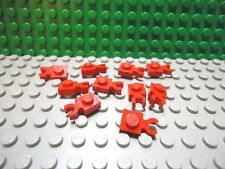 Lego 10 Red 1x1 plate with side clip NEW