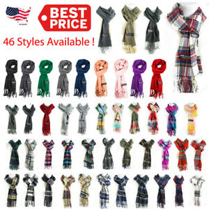 Wholesale Lot Women Men Winter 100% CASHMERE Scarf Solid  Plaid Wool SCOTLAND