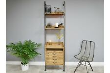 Tall Retro Ladder Style Shelving Storage Display Unit - Bookcase