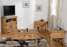 Solid Pine TV Unit / Coffee Table / Lamp Table / Nest Tables Set CORONA