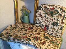Stunning Vintage Ercol Chair Cushions-Pads and Covers-Set of 4 #5134