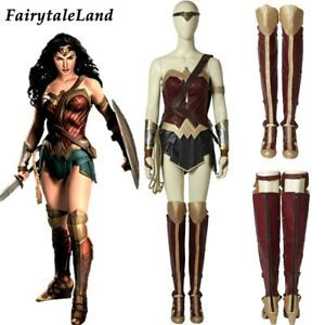 Wonder Woman Diana Prince Cosplay Costume Adult Superheroine Outfit