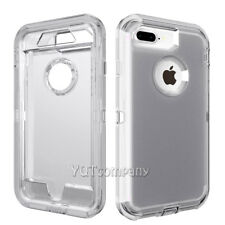 For Apple iPhone X/8/7 Plus 6s Cover Case Shockproof Hybrid Rugged Rubber Clear