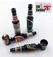 Smoking Pipe Metal Beer Bottle Shaped Tobacco Pipe Cool Gift pocket size (A2)