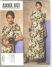 Vogue Anna Sui sewing pattern dress 8 10 12 14 American Designer series uncut