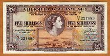 Bermuda, 5 shillings, 1957, P-18b, VF