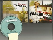 TOBY KEITH Trailerhood 2010 Rare USA PROMO Radio DJ CD Single MINT Trailer hood