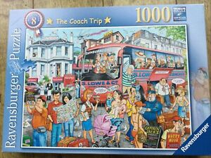 Ravensburger 1000 Piece Jigsaw Puzzle - The Coach Trip - Soft Click Technology