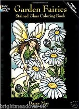 Garden Fairies Stained Glass Adult Colouring Book Creative Art Therapy Relax