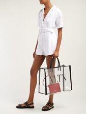Valentino VLTN Print Transparent Tote Bag Woth Pouch Pvc Large Beach Bag