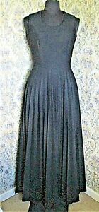 Vintage maxi black dress by BUTTE KNIT Size 10  Pleated skirt