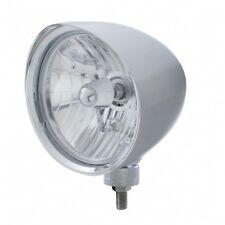 "UNITED PACIFIC 32510 - ""CHOPPER"" Headlight w/ Smooth Visor - Crystal H4 Bulb"