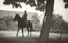 WWII German Large RP- Soldier- Rides Horse- Map Case- Kit- Uniform- Hat- 1940s