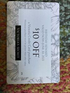 $10 birthday reward Gift Card off Victoria Credit Card Purchase