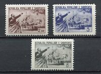 26893) Albanien 1957 MNH Russian October Revolution 3v Lenin & Cruiser Aurora