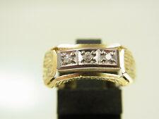 Schöner Art - Deco Diamant Ring 585 GG WG mit 3 kl. Diamanten sign. BF 1940