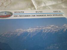 Alpenbahnen Westalpen K 27 BLS/SRZ Zweisimmen Thunersee Interlaken