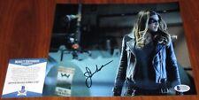 Juliana Harkavy Signed 8x10 Arrow Black Canary Tina The Walking Dead BAS Beckett