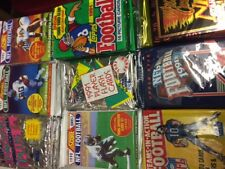 Unopened Football Card Wax Packs Lot Of 6 different Packs from 1990's 80+ cards!