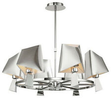 Polished Chrome 6 Light Modern Chandelier With Shades