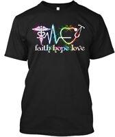 Nurse Faith Love Hope 2 - Hanes Tagless Tee T-Shirt