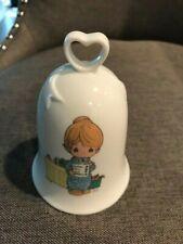 "Precious Moments Bell"" Love Never Fails"" White Ceramic 1994"