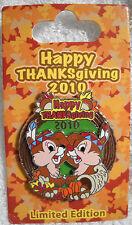 Thanksgiving 2010 - Chip 'n Dale Disney Le Pin