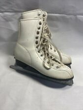 New listing Ladies Ice Skates White Leather Size 6 Preowned F4