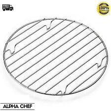 25 cm Chrome Non Stick Round Cooling Rack Cake Cookie Muffin Pastry Bakeware