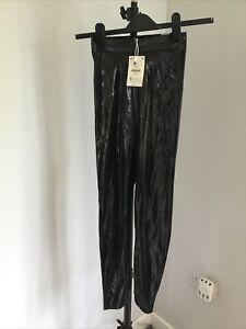 Bershka Faux Leather Leggings XS